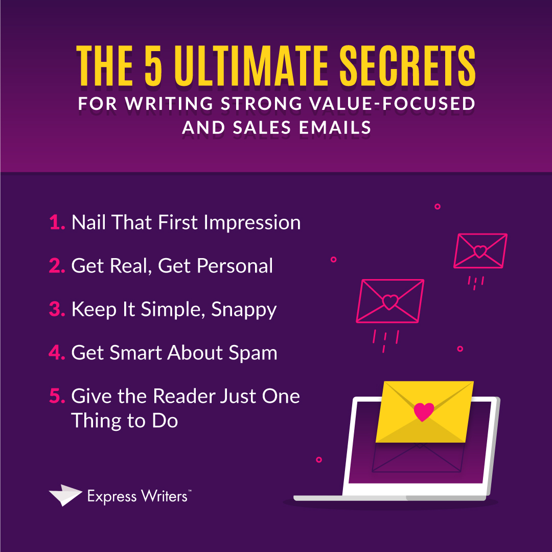 5 secrets for content writers creating email campaigns