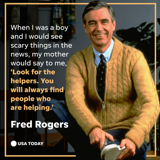 during the pandemic, look for the helpers