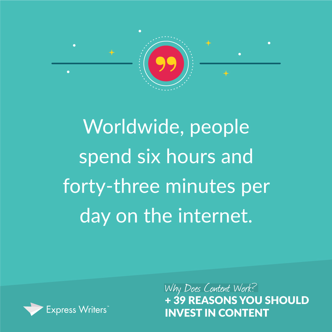 People spend nearly 7 hours on the internet daily