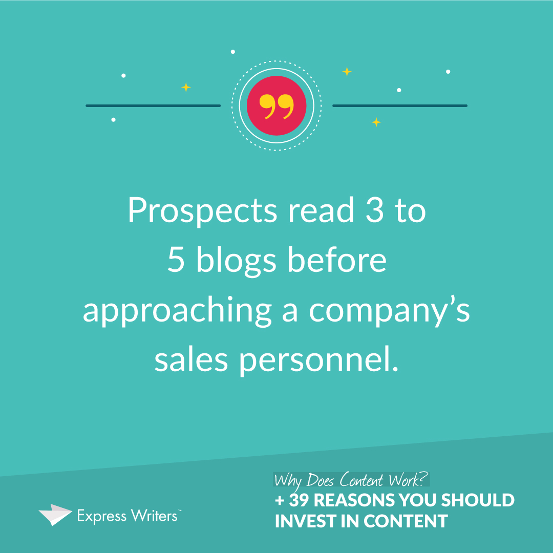 Prospects read 3-5 blogs before talking to sales