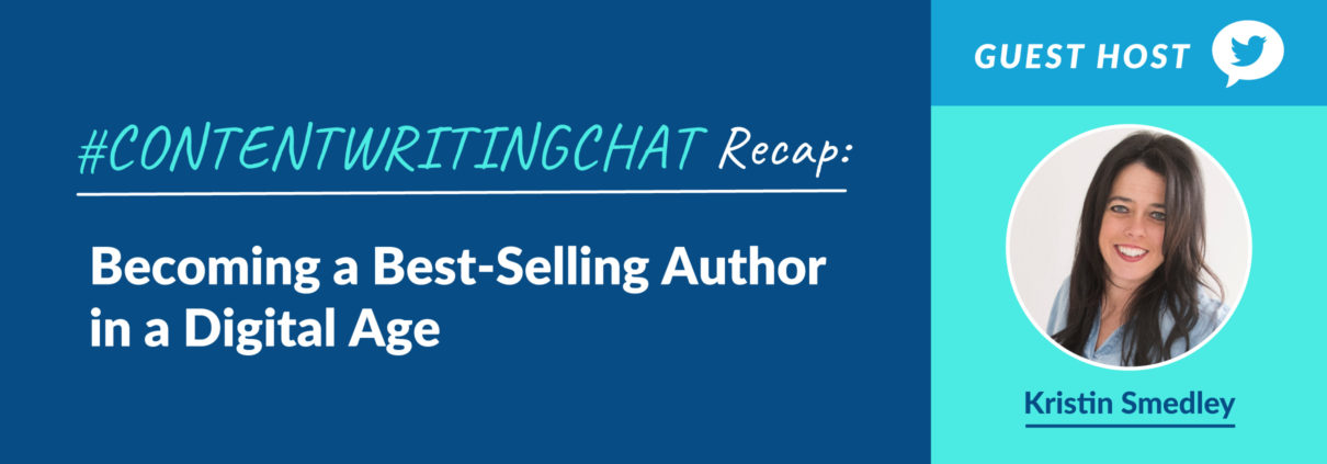 #ContentWritingChat, best-selling author