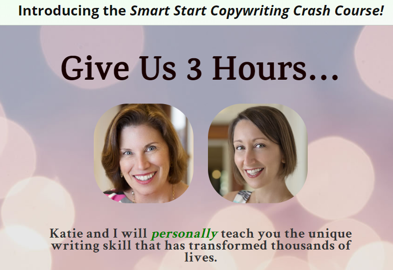 smart start copywriting crash course landing page example