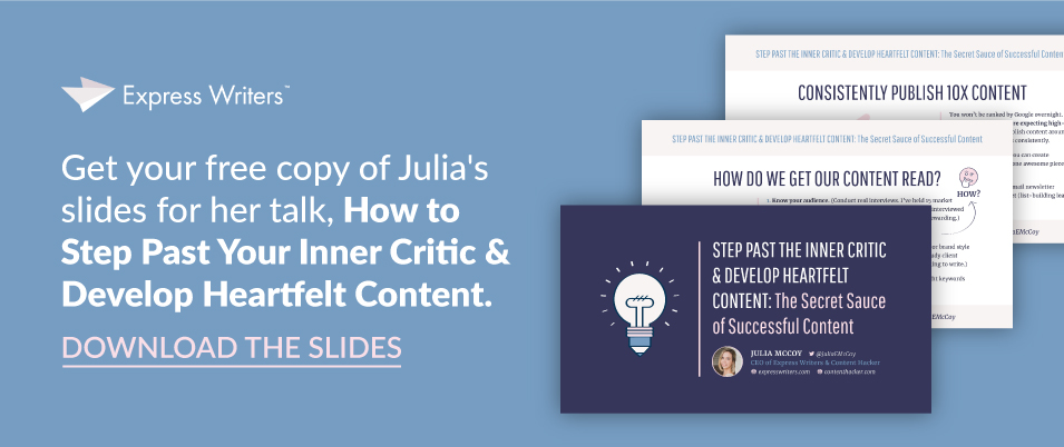 Get the slides from Julia's live talk