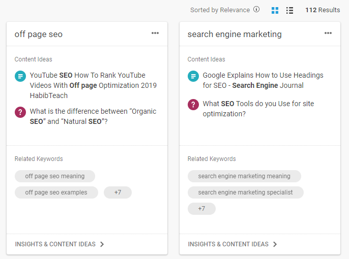 insights on topics using BuzzSumo discover