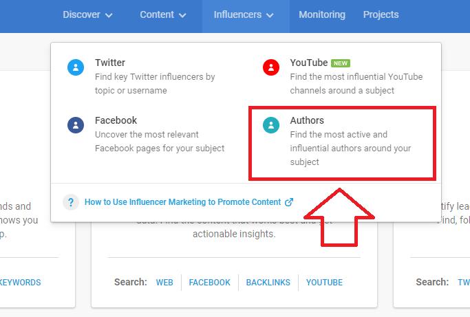 find top influencers on BuzzSumo