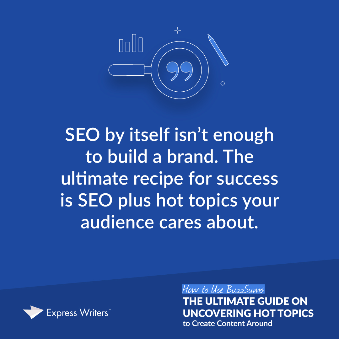 SEO by itself isn't enough to build a brand