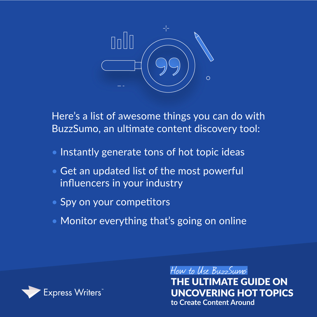 Awesome things you can do with BuzzSumo