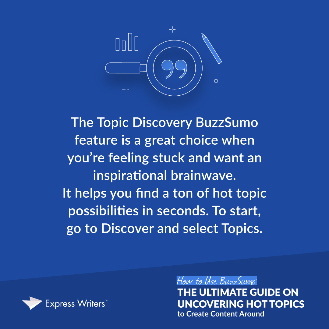 BuzzSumo discovery tool