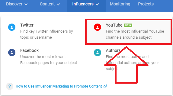 analyze top YouTube influencers on BuzzSumo