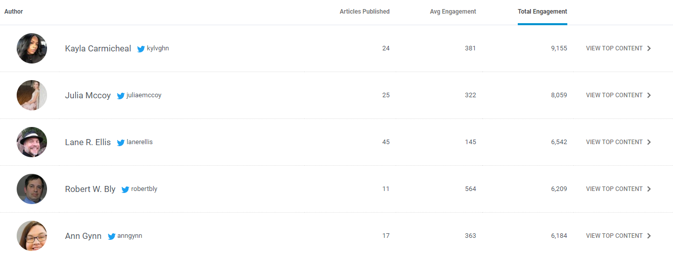 find influencers in your niche on BuzzSumo