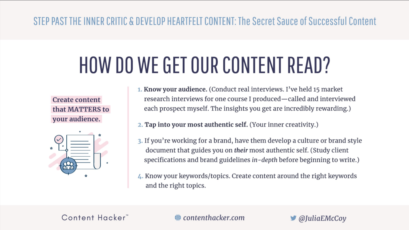 How do we get our content read?