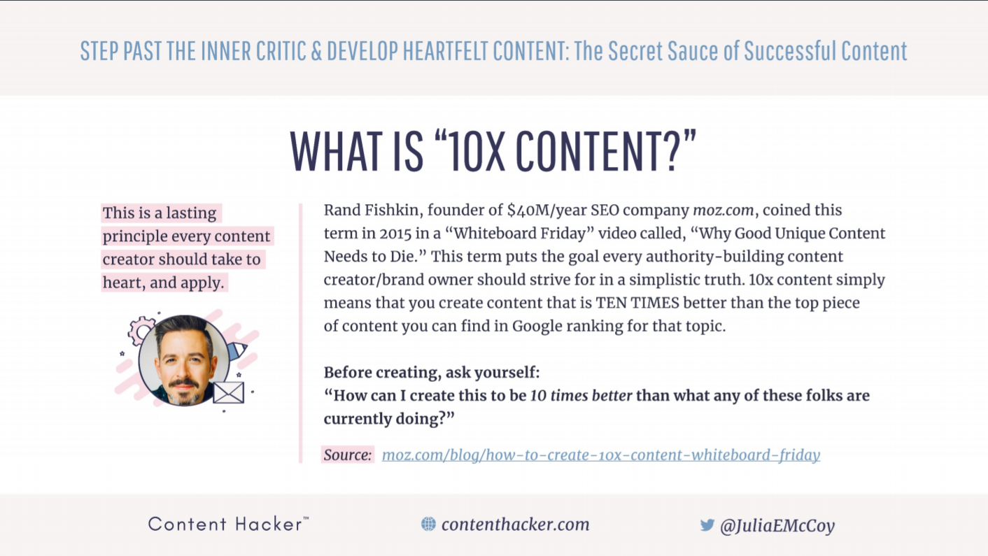 What is 10x content?