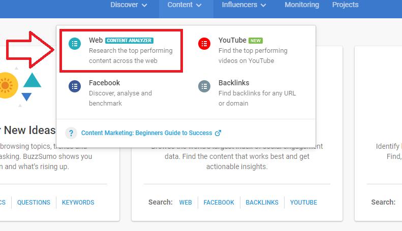 BuzzSumo web content analyzer