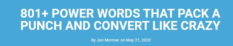 power words lead magnet
