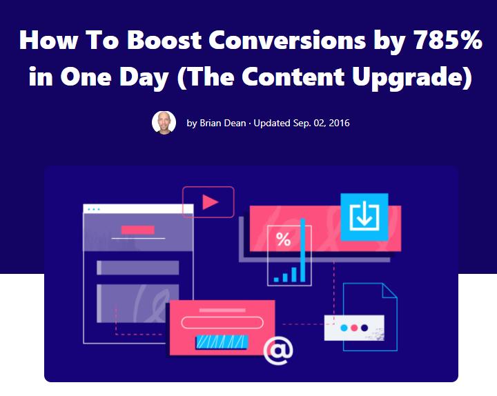 Brian Dean content upgrade lead magnet