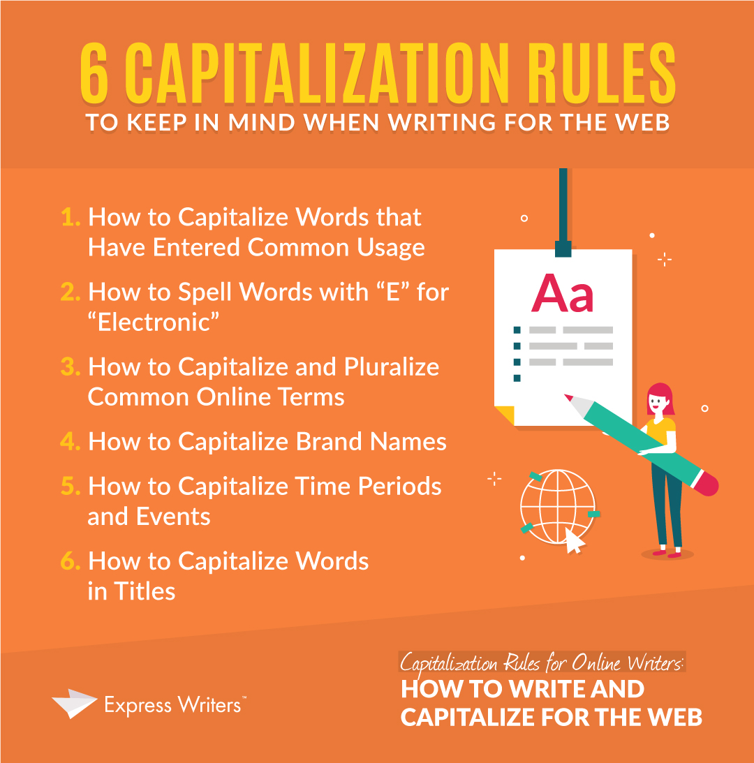 6 capitalization rules for online writers