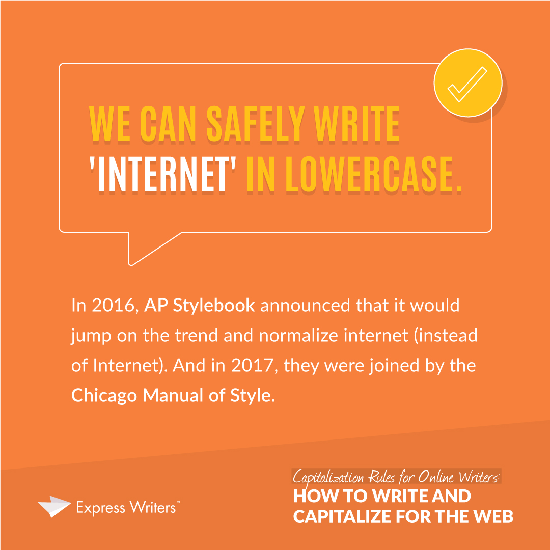 capitalization rules - how to write internet