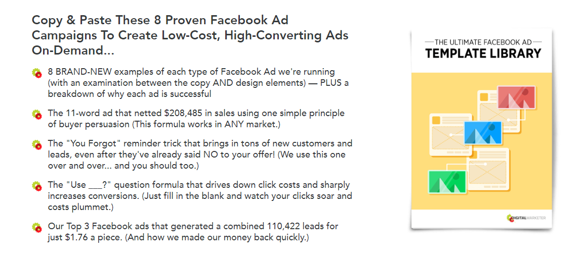 The Ultimate Facebook Ad Template Library lead magnet