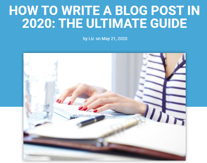 How to write a blog post in 2020 lead magnet