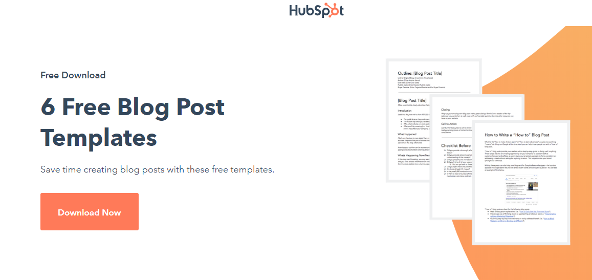 HubSpot free blog post templates lead magnet