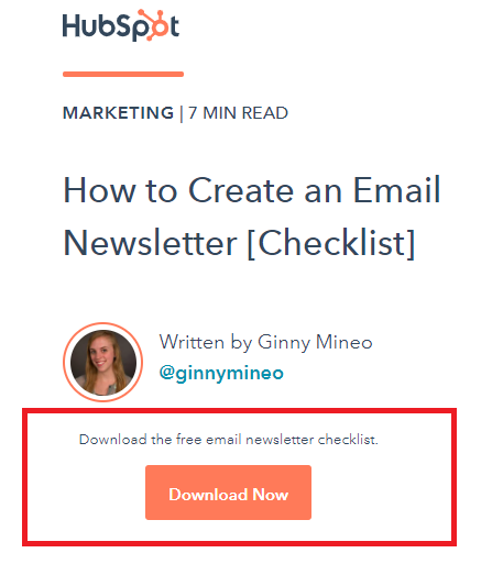 how to create an email newsletter HubSpot lead magnet