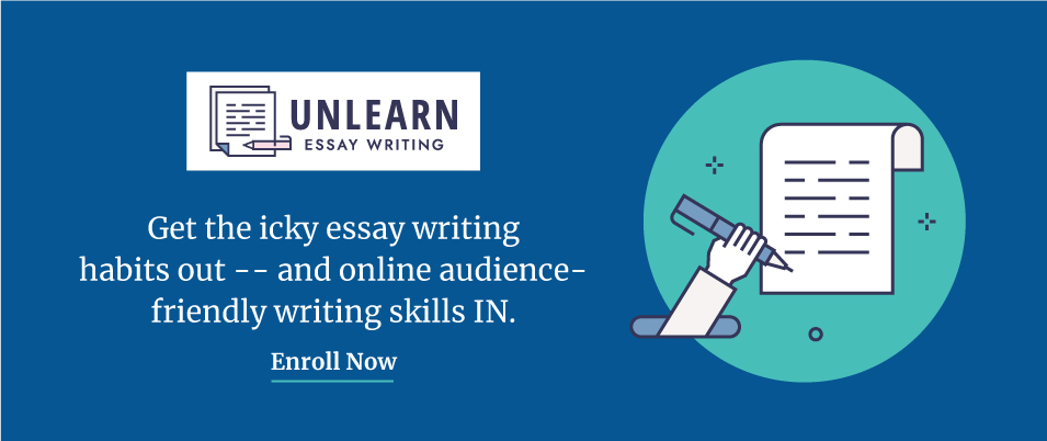 Enroll now in my online writing course