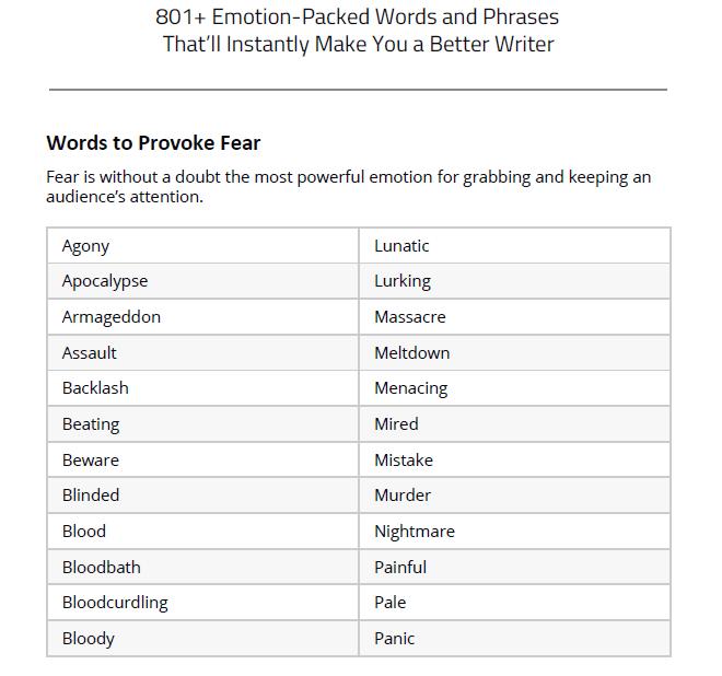 power words lead magnet summary