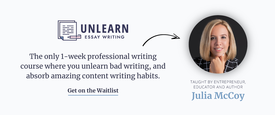 Sign up for the waitlist for Unlearn Essay Writing