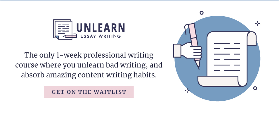 Sign up for beta enrollment in Unlearn Essay Writing