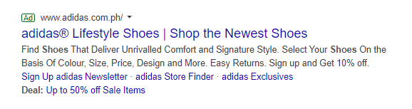adidas google ad