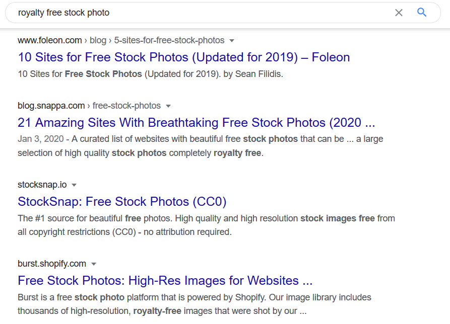 google results royalty free stock photo