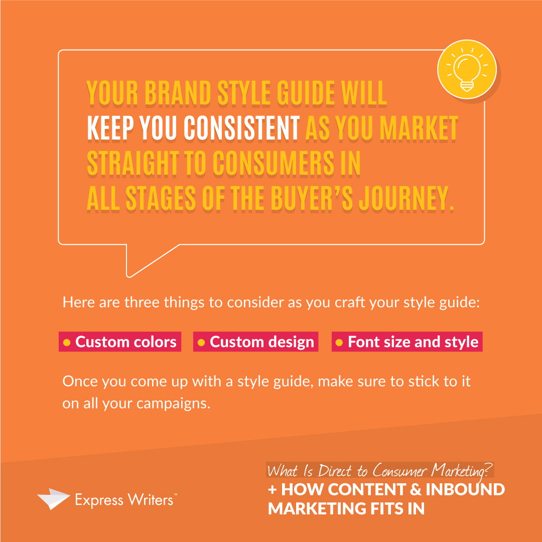 what is in a quote about D2C marketing campaign