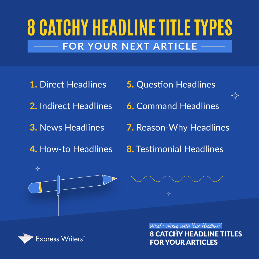 8 catchy headline title types