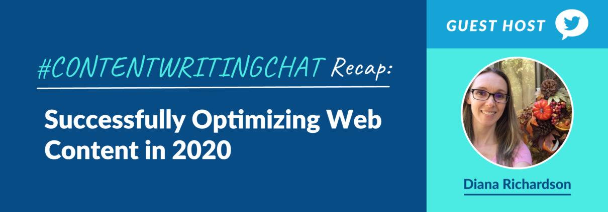 #ContentWritingChat, optimizing web content