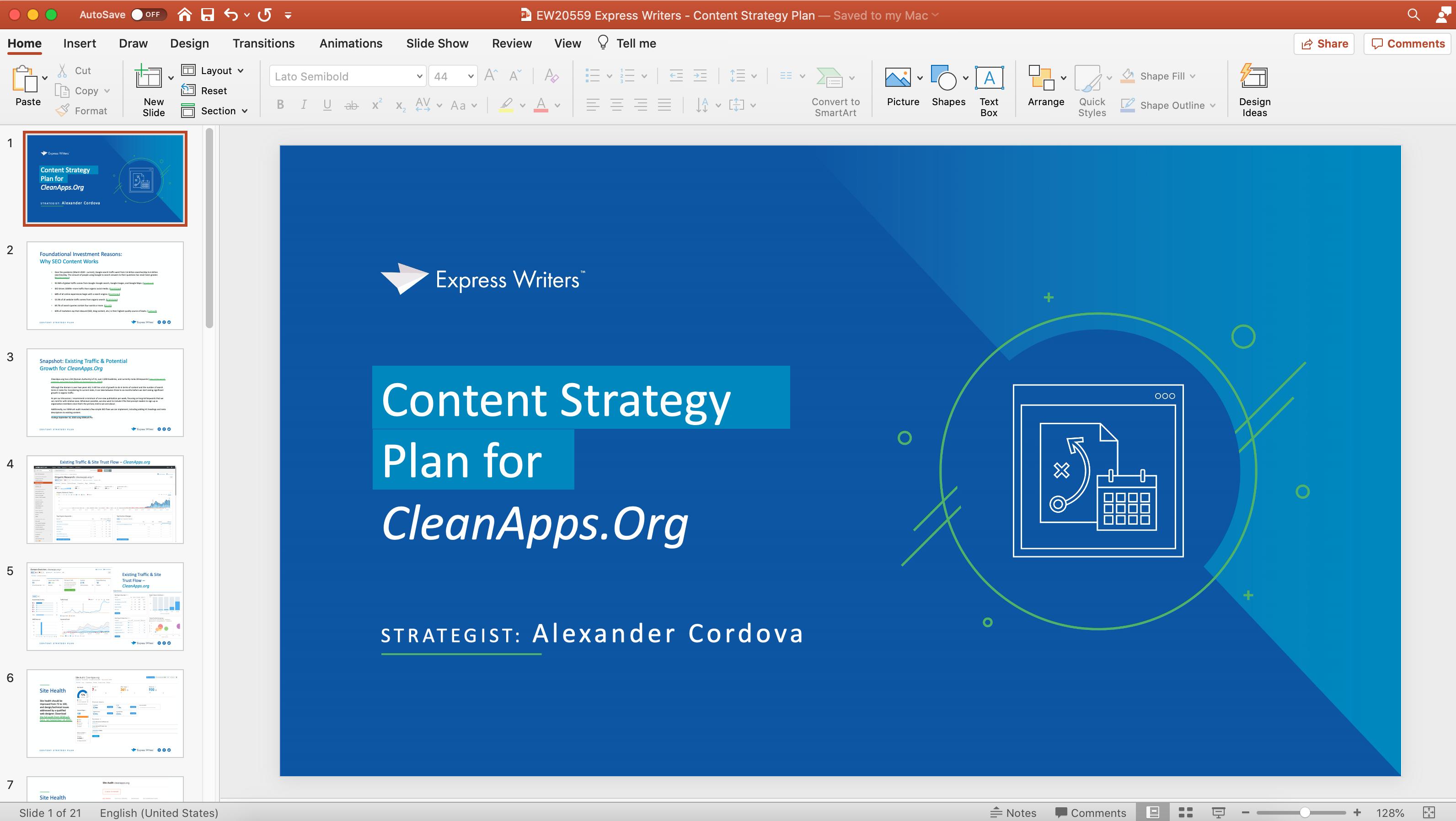 EW content strategy plan