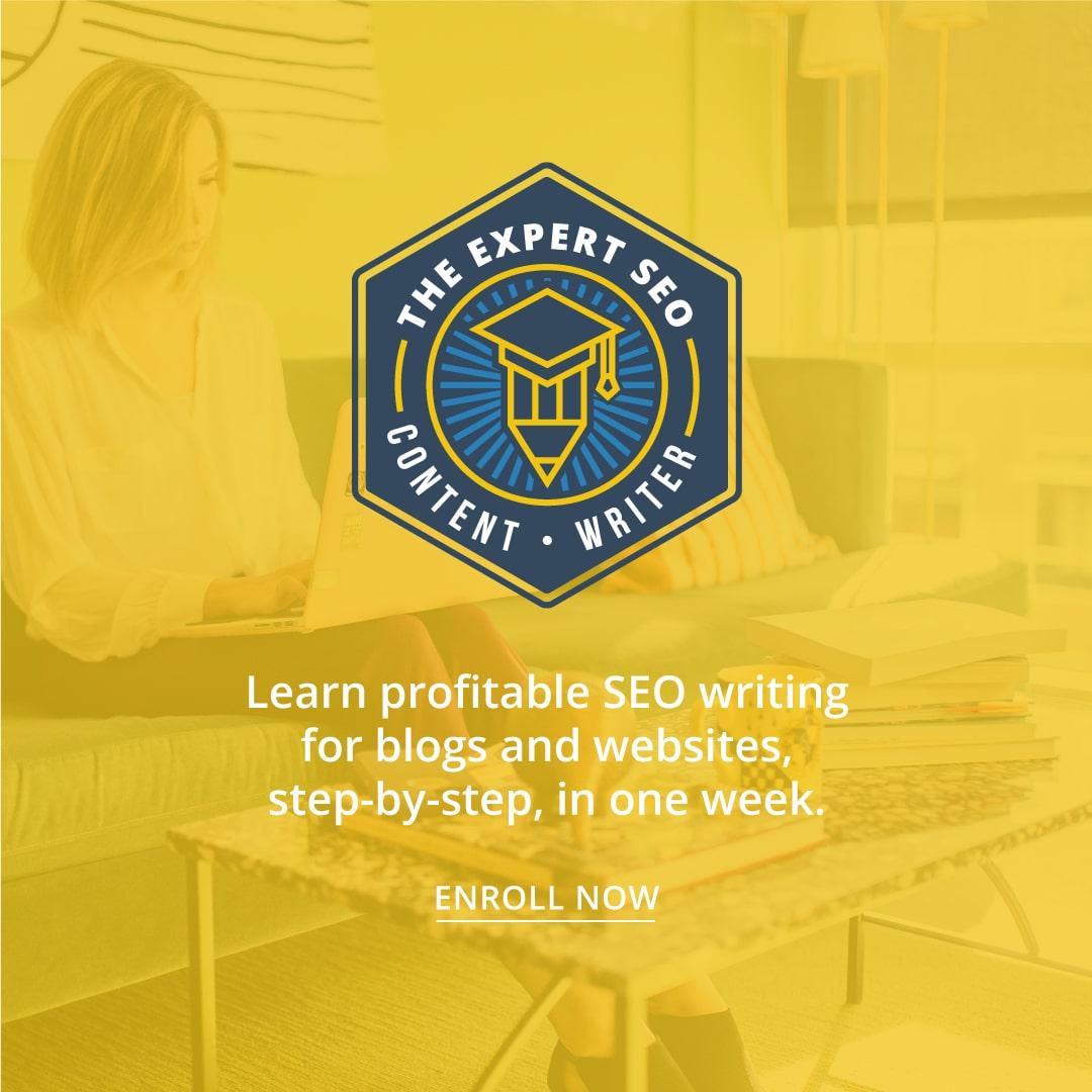 expert seo content writer course
