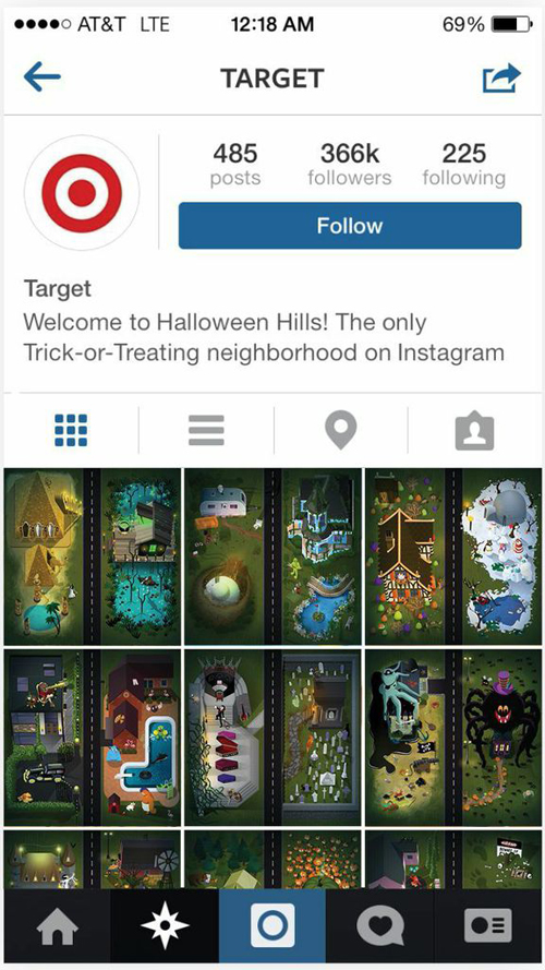 Target IG Halloween Hills marketing