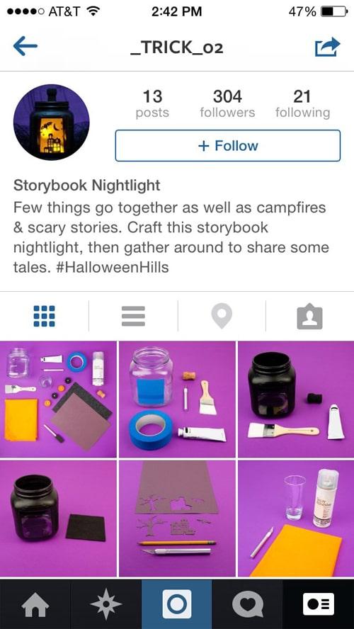 Target Instagram halloween marketing