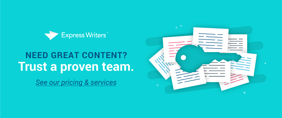 Need content? We're your team