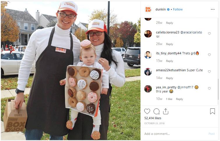 Dunkin Donuts halloween marketing