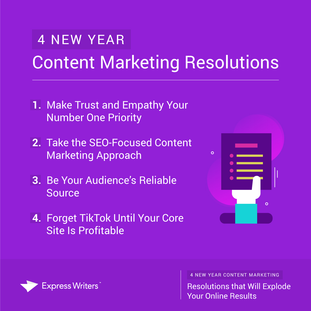 new year content marketing