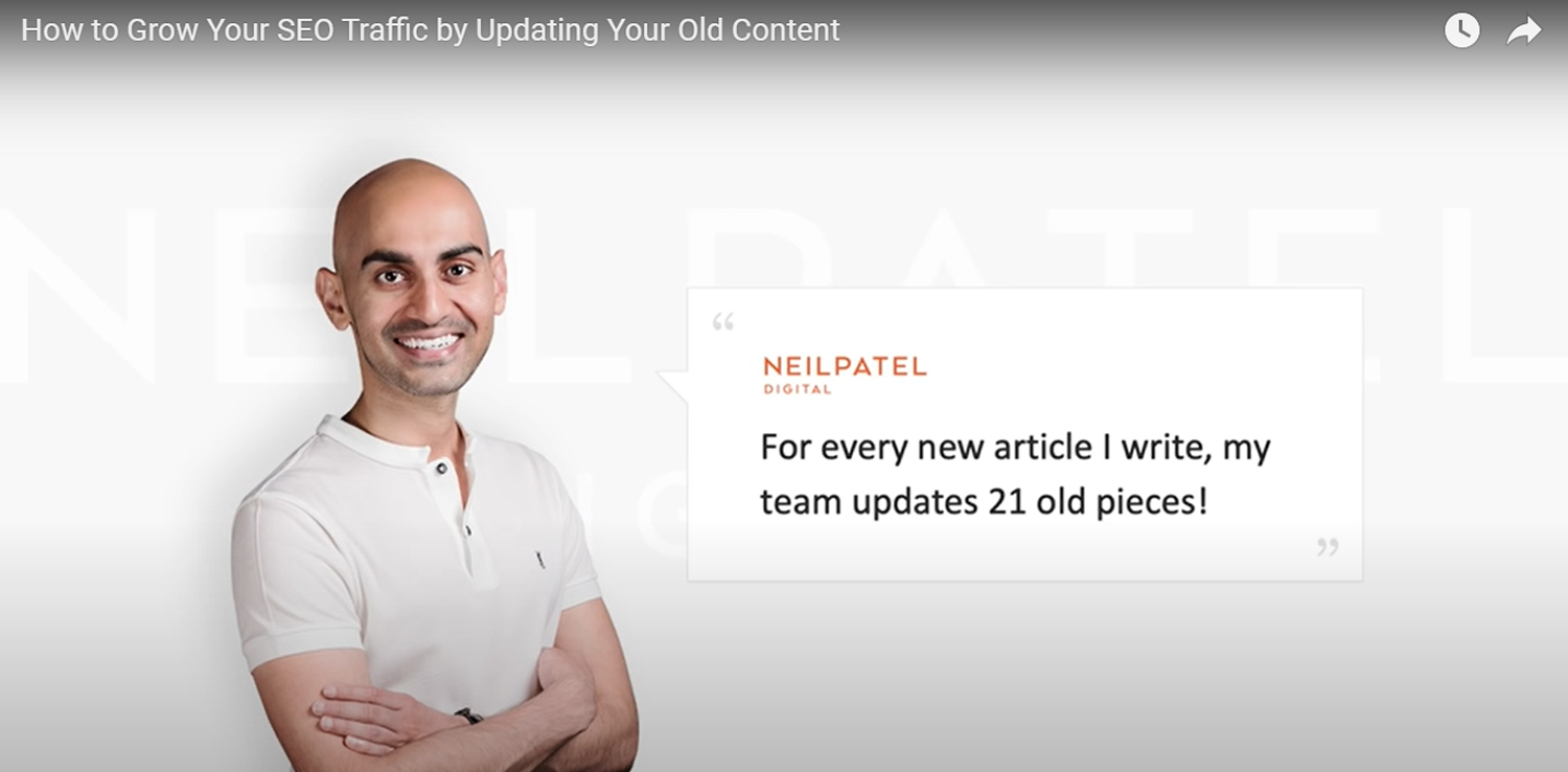 Neil Patel blog updating strategy