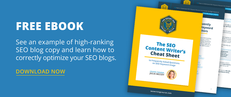 The SEO Content Writer's Cheat Sheet