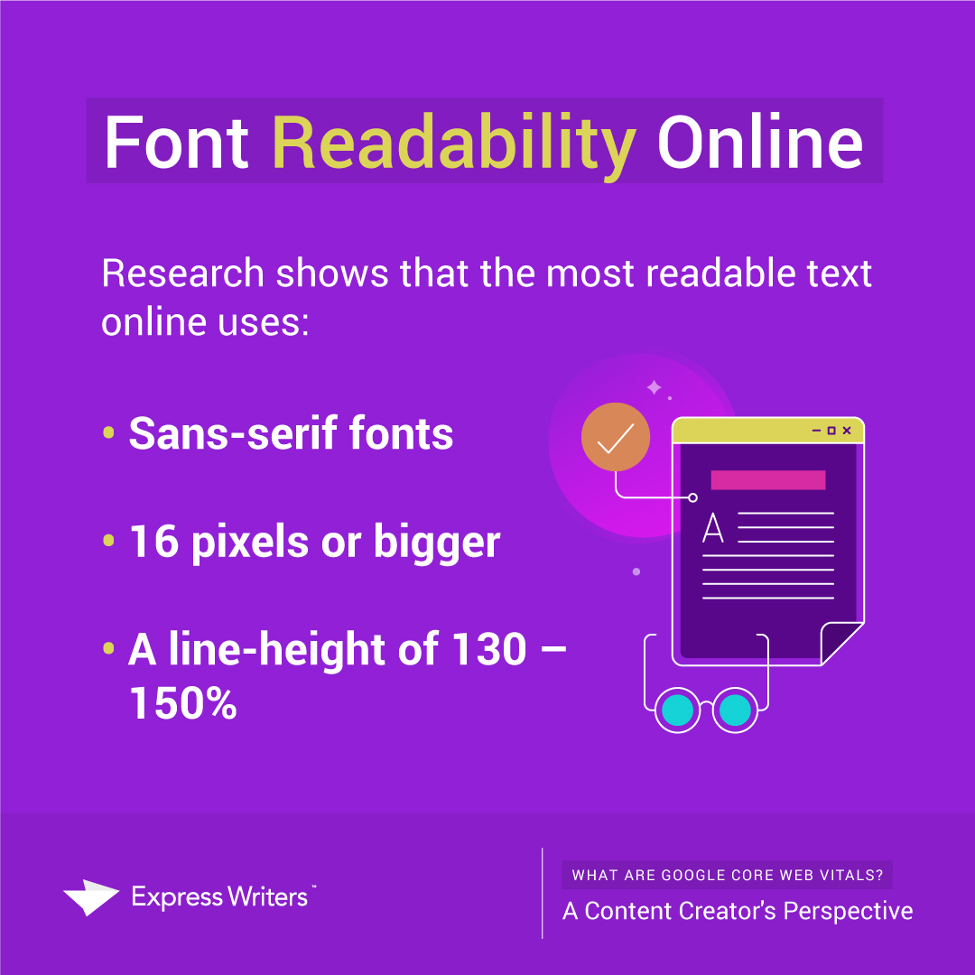 core web vitals and font readability