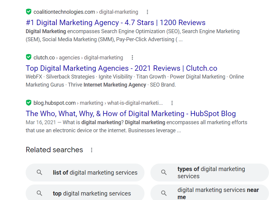 google results without ads
