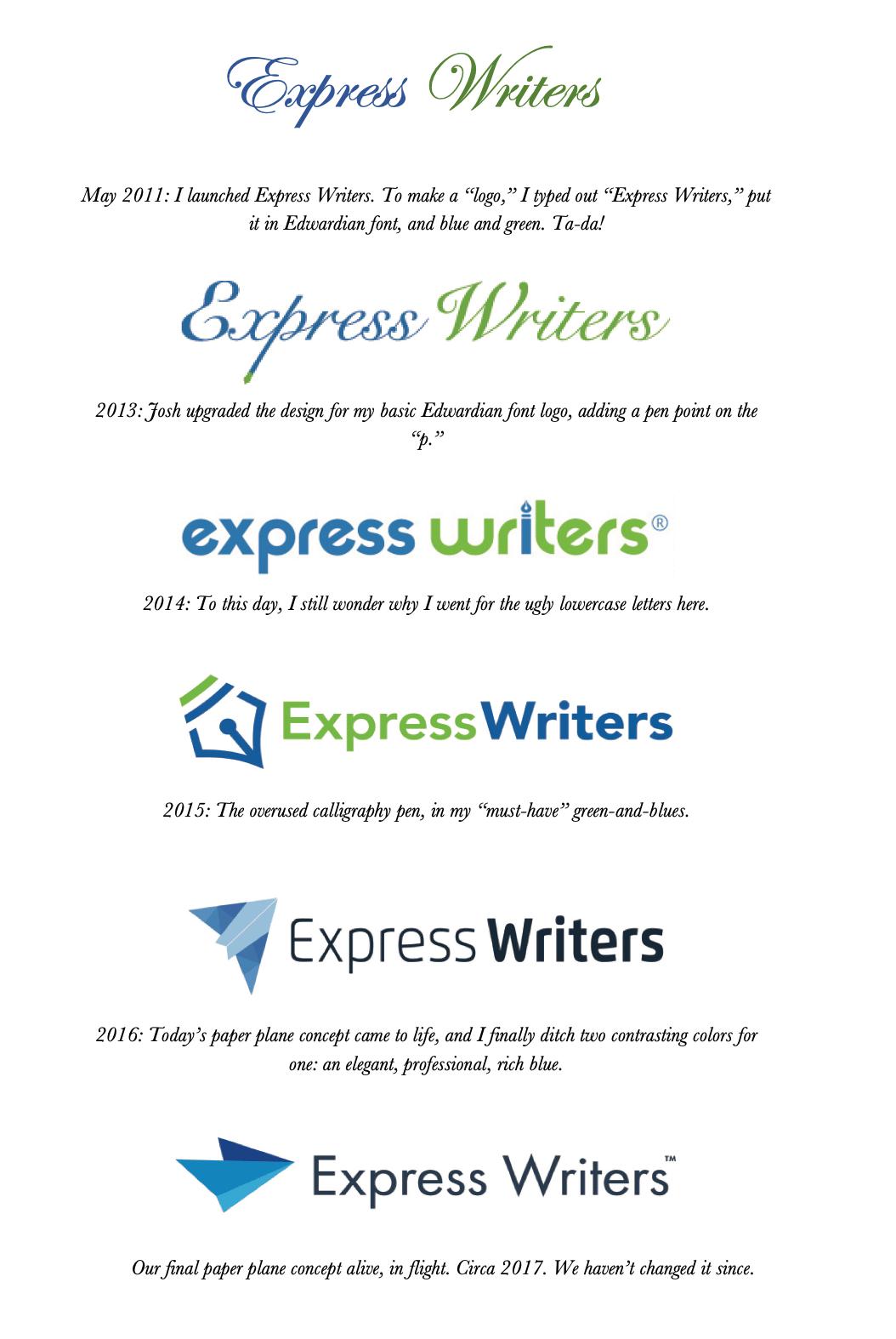 express writers branding